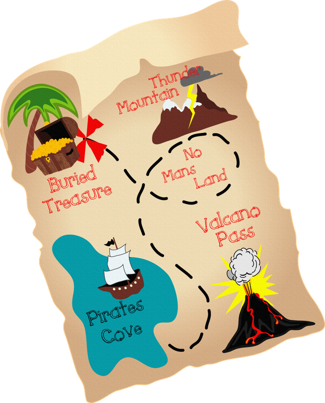 el mapa de tesoro de pirata: